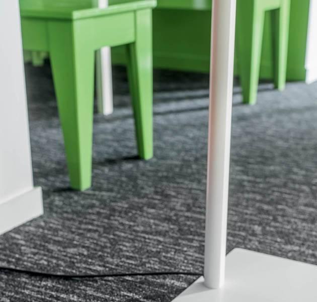 Collection pilote 3D dalle de moquette rain detail salle a manger