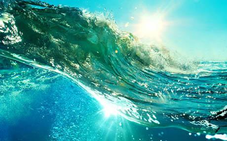Inspiracion deco oceano ola sub marina