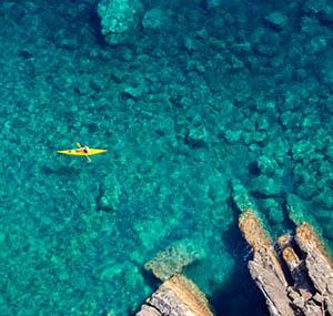 Inspiracion deco oceano desde el cielo canoa mar